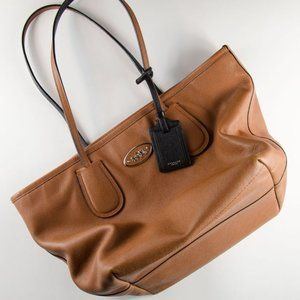 Coach Crossgrain Leather 'Taxi' Zip Up Tote